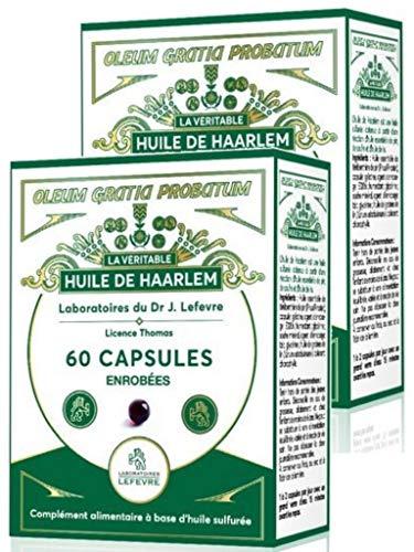Huile de Haarlem 60 capsules Enrobées - Pour le bon fonctionnement des voies respiratoires, des articulations, du foie et du système immunitaire - Lot de 2 Boites (2)