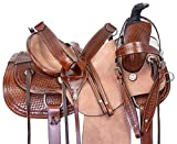 """Acerugs 15"""" 16"""" 17"""" 18"""" Western Leather Tooled RANCHING..."""