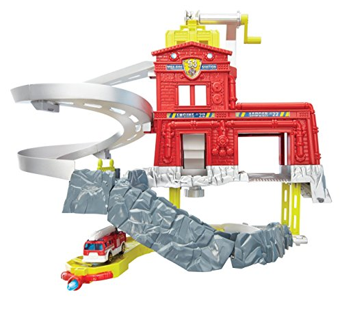 Mattel – Matchbox – Ciff Hangers – Station Pompier – Garage + Véhicule (Import Royaume-Uni)