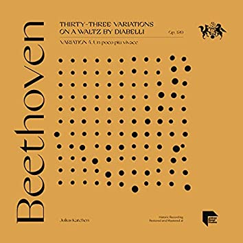 Beethoven: Thirty-Three Variations on a Waltz by Diabelli, Op. 120: Variation 4. Un poco più vivace