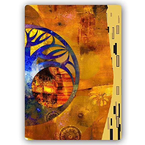 F FEEBY WALL DECOR Blechschild Baum Klimt Bilder modern Deko Jugendstil Gold 30x40 cm