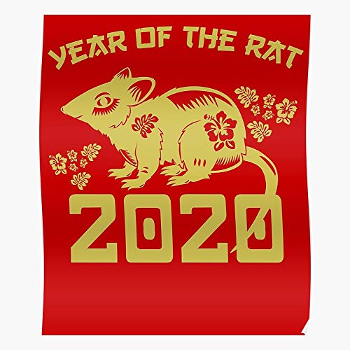 Zodiac Chinese Happy The Of New Year 2020 Rat El póster de decoración de interiores más impresionante y elegante disponible en tendencia ahora