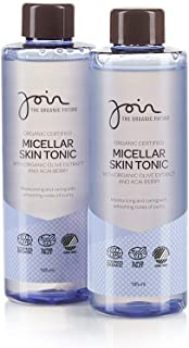Join Organic Certified Micellar Skin Tonic with Olive Extract & Acai Berry - Pack of 2 bottles with each 195 ml.