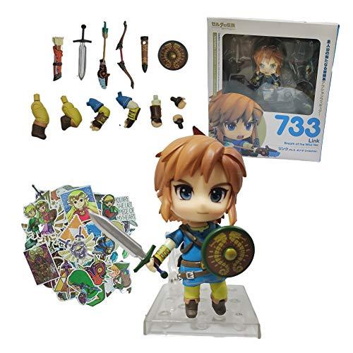 XINSHENG Zelda figura conjunto Acción Zelda Figura Enlace Espada Anime Juguetes Modelo Muñeca Zelda Espada Figma Coleccionable Juguetes PVC Figma