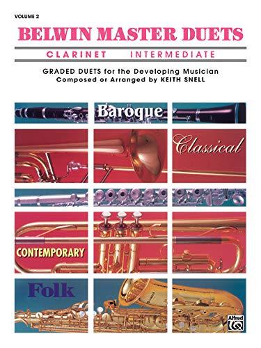 Belwin Master Duets (Clarinet), Vol 2: Intermediate