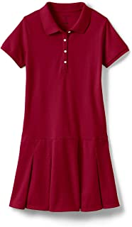 red uniform polo dress