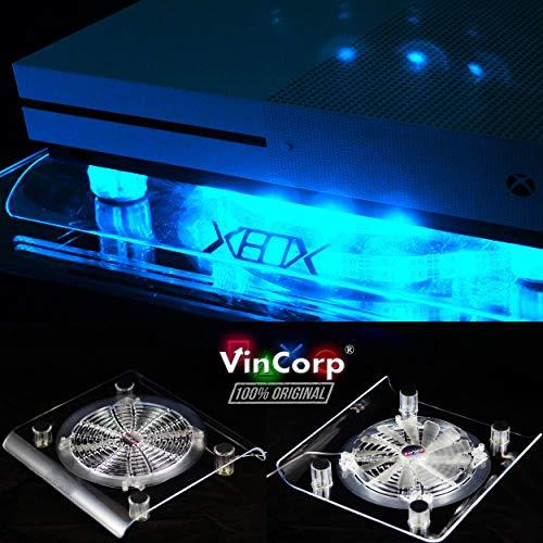 VINCORP - Ventilador y soporte para Xbox One X Project Scorpio / S / 360 (USB, 19 cm), color azul