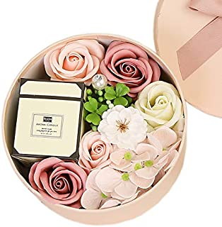 Rose Gift Box Artificial Flowers Foam Fake Roses With Scented Fragrance Candle Decoration For Valentine's Day Mother's Day...