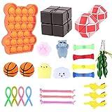 Herefun 26 pcs Juguetes Sensoriales, Kit de Juguetes Antiestrés, Juguetes Sensoriales para Alivia el Estrés para Niños, Juguete pequeño Sensoriales para Regalos de Cumpleaños, Artículos para Fiestas