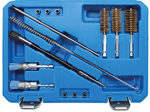 BGS 9324 | Injektorsitz- und Schacht-Reinigungs-Satz | Injektor Stahldraht-Bürsten / Nylon-Bürsten
