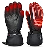 Heated Gloves Men Women,Electric Rechargeable Battery Gloves 7.4V 2200mAh,Heated Ski Snow Motorcycle Gloves Mittens for Raynaud's Hand,Winter Outdoor Sports Gloves Hand Warmers