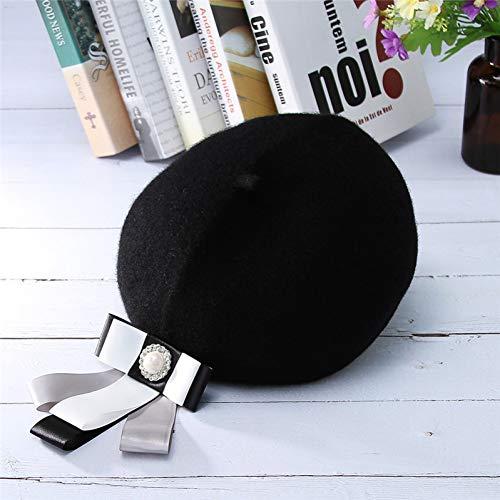 LAIGESHADIAO Winter Hat Vintage Women's Cap Knit Berets Hats Autumn Winter Warm Octagonal Cap Fashion Mixed Color Beret Cap Artist Hat