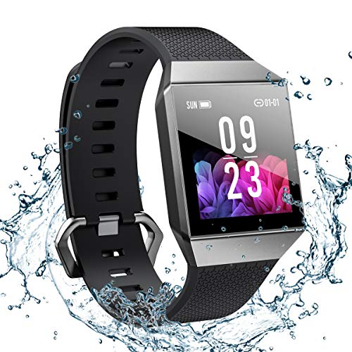 Smart Watch for Android and iOS Phone 2019 Version Smartwatch IP68 Waterproof, Buletooth Fitness Activity Tracker with Heart Rate Monitor ECG+PPG Pedometer Sleep Tracker Message Reminder, Men Women