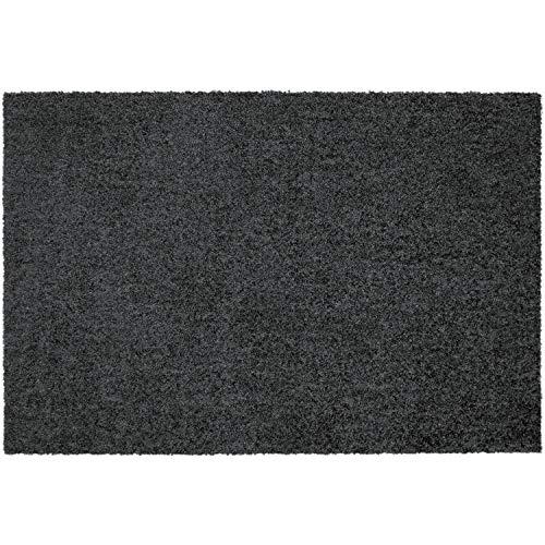 Mocavi Step - Felpudo lavable, sin bordes, 50 x 70 cm, color gris antracita (RAL 7016)