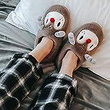 ypyrhh algodón con Memoria Zapatillas de Estar,Furry Home Cotton Shoes, Couple Platform Heel Slippers-Coffee l_42-43