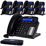 XBLUE X16 Small Business Phone System Bundle with (9) Phones - (6) Outside Line & (16) Phone Capacity - Includes Auto Attendant, Voicemail, Caller ID, Paging & Intercom