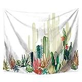 Brandless Cactus Plantas Tapiz Acuarela Flor suculenta Flores Toalla de Playa Sentarse Manta Decoración del hogar Colgar en la Pared