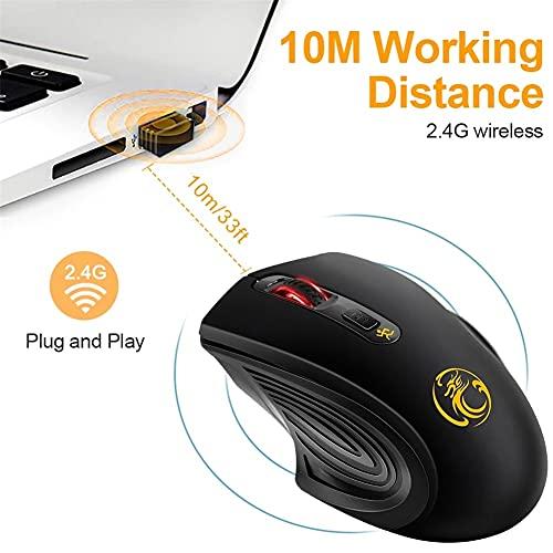 iAmotus Souris sans Fil, 2.4GHz Wireless Souris Silencieuse Portable 3 DPI Réglables Souris Gamer Optique avec Nano Récepteur USB Mouse Ergonomique pour Bureau/Windows/Linux/Vista/PC/Mac