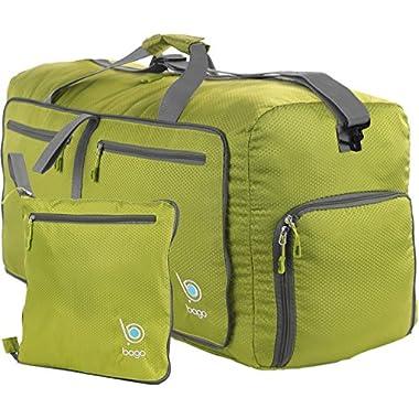 bago Travel Duffle Bag For Women & Men - Foldable Duffel Bags For Luggage Gym Sports (Medium 23 , Green)