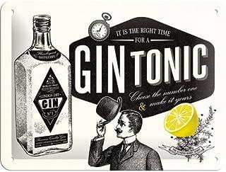 Nostalgic-Art Cartel de Chapa 15x20 -Gin Tonic