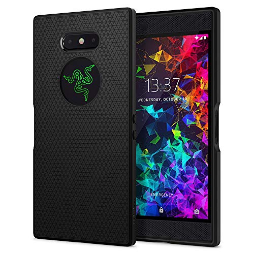 Spigen Liquid Air, Razer Phone 2 Hülle, S04CS25532 Stylisch Muster Design Handyhülle mit Luftpolster Air Cushion Technologie Silikon Schutzhülle Hülle (Schwarz)