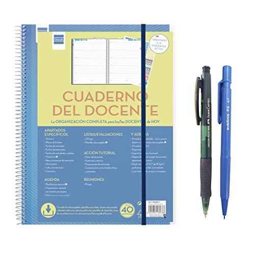 Finocam 5340001 - Cuaderno del docente, formato 230x210 mm. La Organización completa para los profesores profesoras de hoy + REGALO