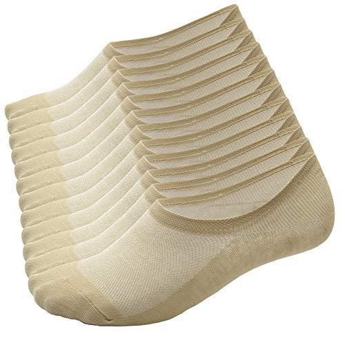 Calcetines Cortos hombre y mujer, zapatillas invisibles de 92% algodón elástico, calcetines cortos de tobillo, transpirables, deportivos, antideslizantes, calcetines bajos