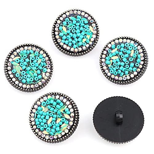 Botones Mezcla de perlas y pedrería de plástico, 30 mm, 10 piezas,...