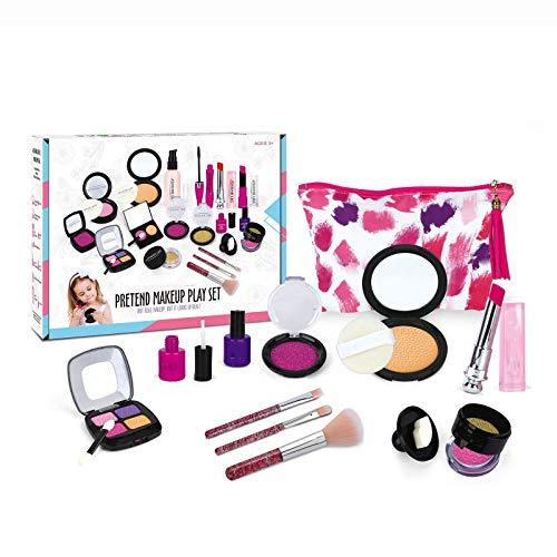 Conjunto de Maquillaje para nios - Maquillaje de feto Lavable para nias: Estos Juguetes de Maquillaje para Las nias Incluyen Todo lo Que su Princesa Necesita para Jugar disfrazada
