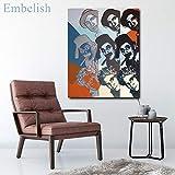 BailongXiao Cuadro En Lienzo Cartel de Personajes Coloridos y póster Moderno y decoración para Arte de pared84x112cmPintura sin Marco
