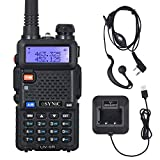 ESYNiC Walkie Talkie UV-5R Dual Band 65 MHz~108MHz VHF/UHF Walky Talky LED FM 128 Canali Memoria Due Vie Radio Ricetrasmettitore FM Radio Ricevitore Supporta VOX con USB Cavo Alimentazione