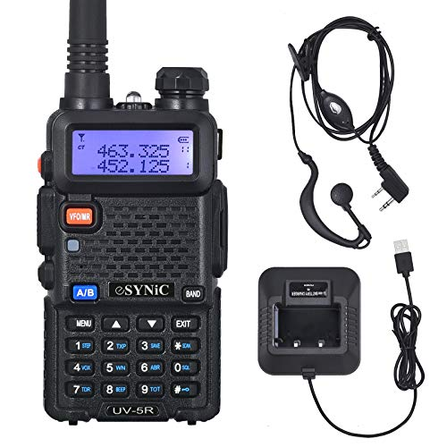 eSynic UV-5R Walkie Talkie Dual Band VHF/UHF with LED Display 128 Memory...