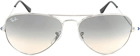 Ray-Ban Aviator Classic, Silver/ Crystal Grey Gradient, 55 mm