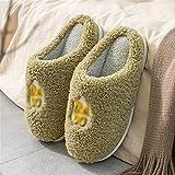 SKREOJF Zapatillas de algodón de suela gruesa para mujer, hogar...