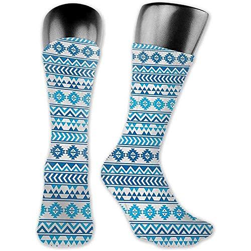 heefan Calcetines Tribal creativo, patrn azteca con formas culturales populares geomtricas nativas americanas Imagen primitiva