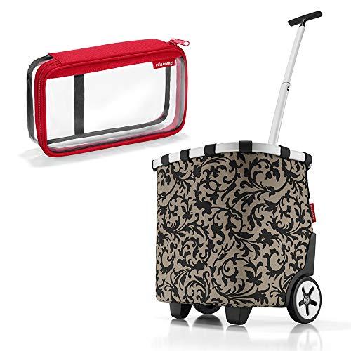 reisenthel - EXKLUSIVES ANGEBOT! carrycruiser + case 2 Einkaufskorb Einkaufstasche Einkaufstrolley Set Rolltasche Case Kosmetik Kosmetiktasche (baroque taupe)