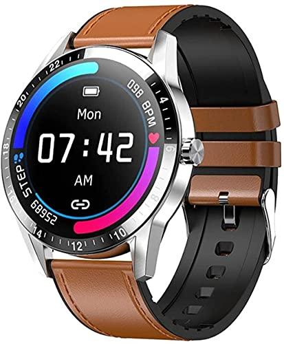 YLB Smartwatch da uomo Bluetooth Chiamata Smartwatch iOS Quadrante Personalizzato 1 28 pollici 30 giorni di standby G20 Pro VS LF26 per Android iOS (colore A)