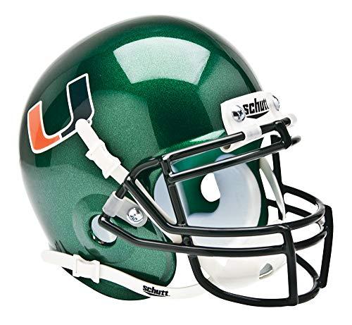 Schutt NCAA Miami Hurricanes Mini Authentic XP Football Helmet, ALT 1