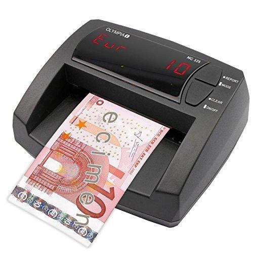 Olympia NC 325automatico di banconote Tester–Update Bar–Display LCD–Integrato denaro contatore   Mobiler banconote false, Bank Note Tester per Euro di...