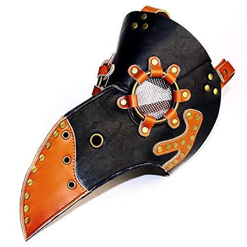 Zishine Pest doktor Maske Halloween Bühnenstützen Kostüm Steampunk Gothic Cosplay Retro Maske (ohne Hüte und andere)