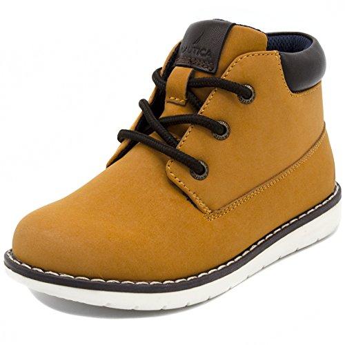 Nautica Kids Plot Chukka Boot Lace Up Fashion Shoe Sneaker-Wheat-4