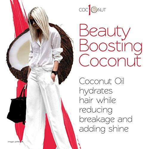 Kokos-Hitzeschutzspray – Anti-Frizz, UV-Schutz – 10-in-1 Styling-Produkt – 250 ml - 4