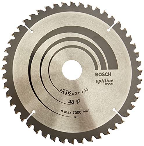 Bosch Zubehör 2608640432 Kreissägeblatt Optiline Wood 216 x 30 x 2,0 mm, 48