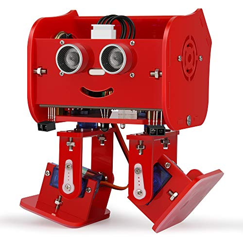 ELEGOO Penguin Bot Biped Robot Kit for Arduino Project with Assembling Tutorial, STEM Kit for Hobbyists, STEM Toys for Kids and Adults Version 2.0 Red