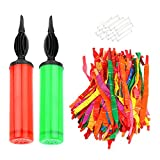 gulrear 100 Pack Rocket Balloons with 2 Air Pumps Flying Balloons Giant Rocket Balloons Whistling Noisy Balloons for Kids