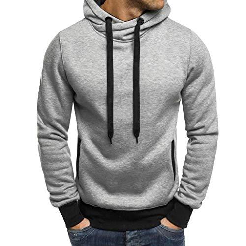 Kapuzenpullover Herren Pullover Männer Hoodie Freizeitmode Reine Farbe Langarm Sweatershirt Tops Kölner Karneval Sportjacke Sweatjacke CICIYONER