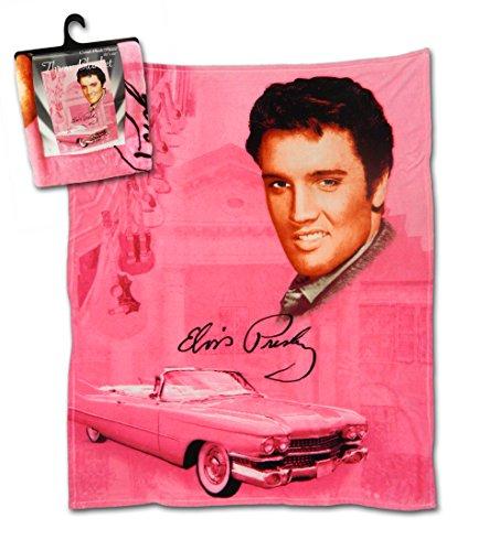 Elvis The King Presley Pink Cadillac Cozy Throw Blanket