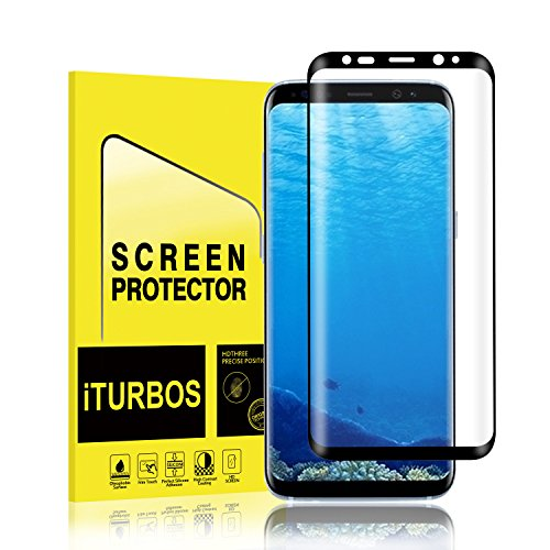Galaxy S8 Screen Protector [2-Pack], iTURBOS Full Screen Coverage 3D PET HD Screen Protector Film for Samsung Galaxy S8 Black.