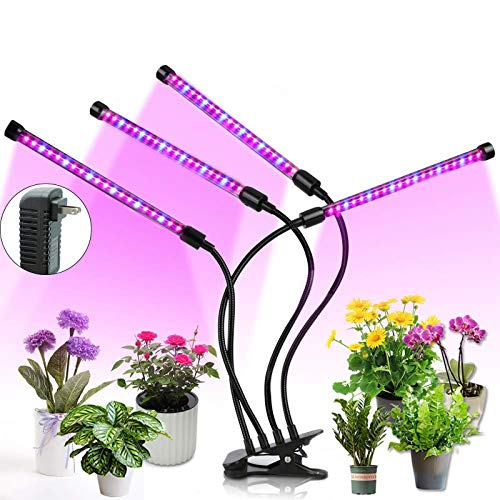 Upgraded Grow Light, Full Spectrum LED Plant Light for Indoor Plants, Auto ON/Off with 4/8/12 H Timer, 8 Dimmable 36W Growing Lamp for Garden Seeds Herbs Succulents Orchids Hydroponics