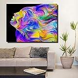 KWzEQ Imprimir en Lienzo Retratos Coloridos Sala de Estar HD Impresión Lienzo Pintura al óleo Decoración del hogar70x95cmPintura sin Marco